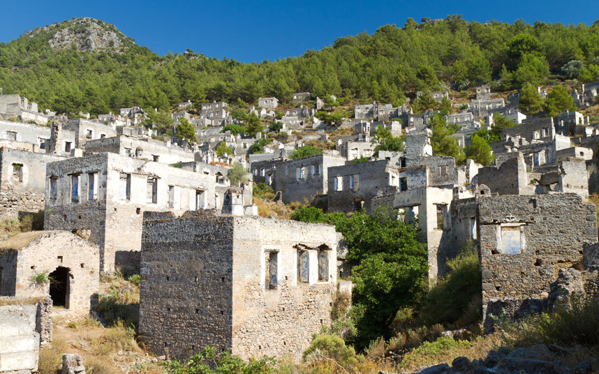 Kayakoy - abandoned in 1923 - features in Russell Crowe's newest film, The Water Diviner. Here are 18 more fascinating ghost towns around the world...
