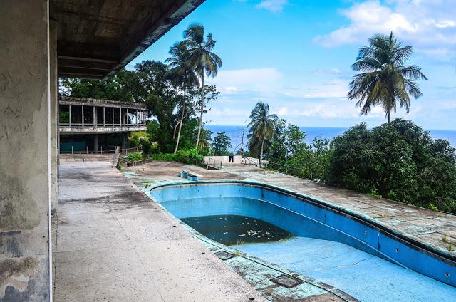 The deserted Ducor Hotel of Monrovia