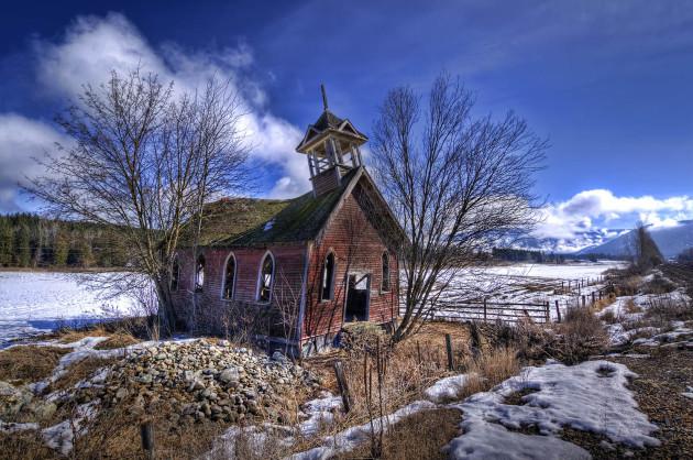 Notch Hill church in Tappen, BC, Canada.
